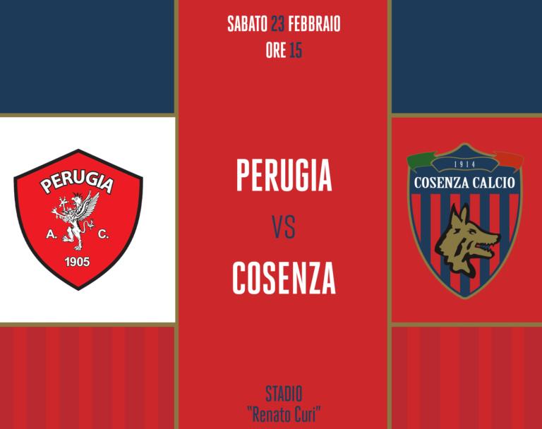Calcio serie B, Perugia Cosenza 0-1