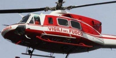 elicottero vigili del fuoco ritrova giovane scomparso a Cassano Ionio