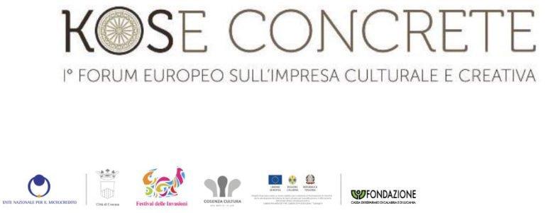 """KOSE CONCRETE"" I Forum europeo sull'impresa culturale e creativa"