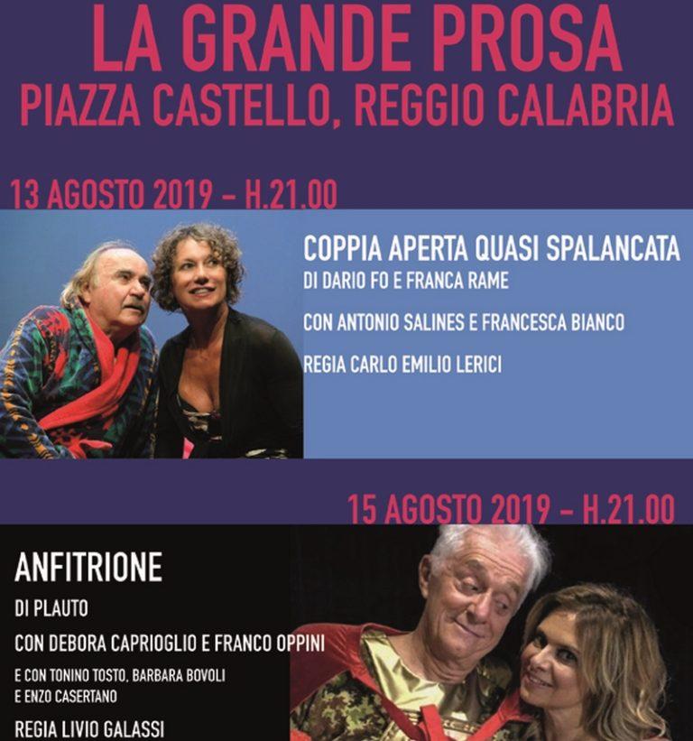 """""""La Grande Prosa"""" sbarca a Reggio Calabria"""
