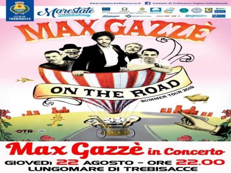 Max Gazzè questa sera a Trebisacce nell'ambito del cartellone estivo Marestate 2019