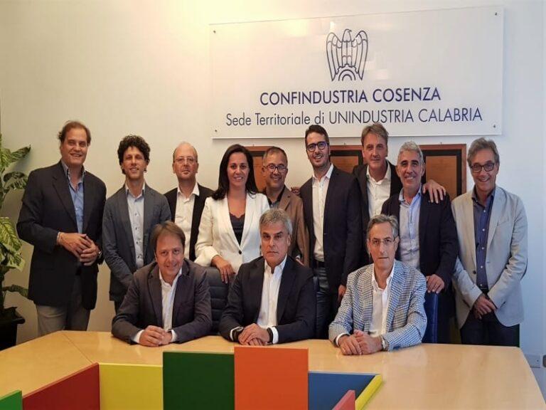 Confindustria Cosenza: con i presidenti Mazzuca ed Amarelli il numero uno di Confindustria, Boccia