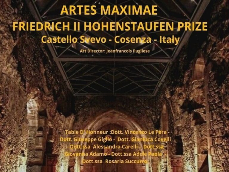"""""""Artes Maximae"""", al Castello Svevo di Cosenza la consegna dei Premi"""