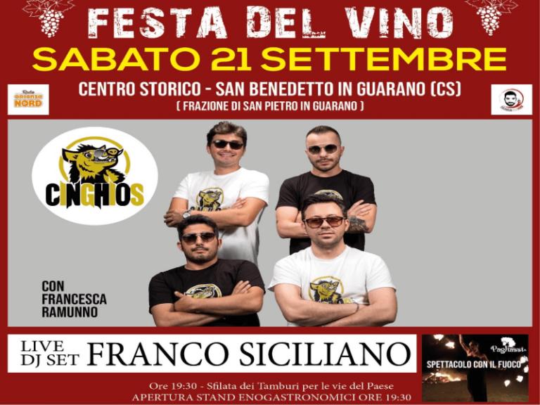 Festa del vino a San Benedetto in Guarano, tutto pronto per la 2^ serata