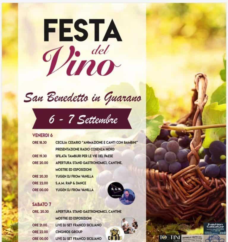 San Benedetto in Guarano, tutto pronto per la festa del vino