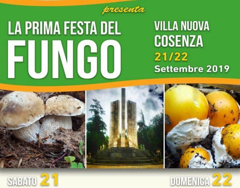 """Cosenza, prima edizione della"""" Festa del Fungo"""" nella Villa Nuova"""