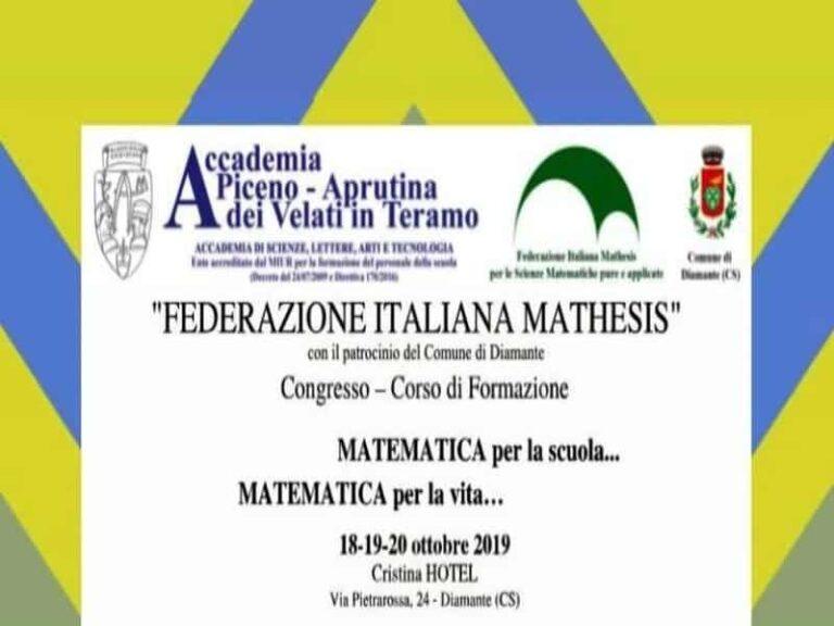 Matematica per la scuola…Matematica per la vita, il congresso di Matematica organizzato a Diamante