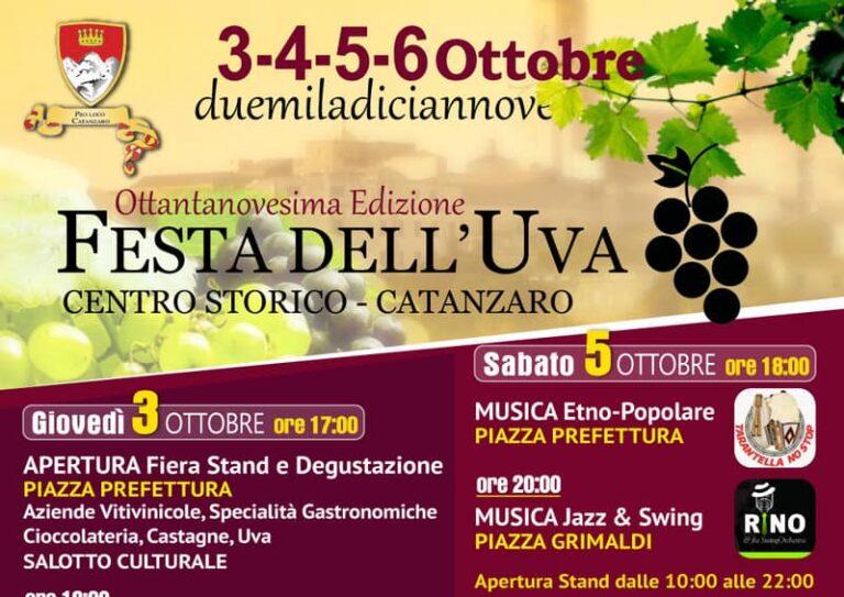 Catanzaro, tutto pronto per l'89^edizione della Festa dell'Uva