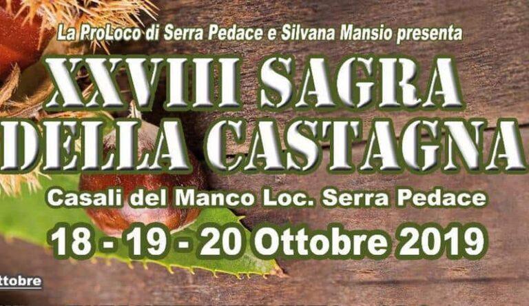 Casali del Manco, al via la XXVIII edizione della Sagra Della Castagna