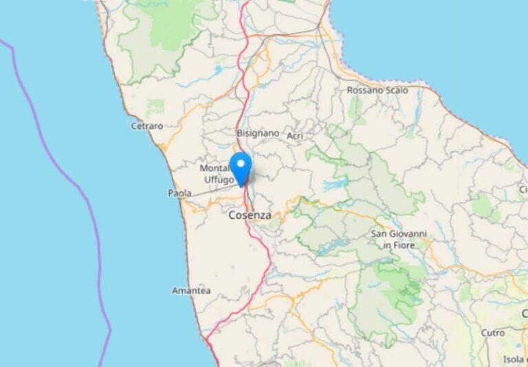 Terremoto, scossa avvertita tra Rende e Montalto