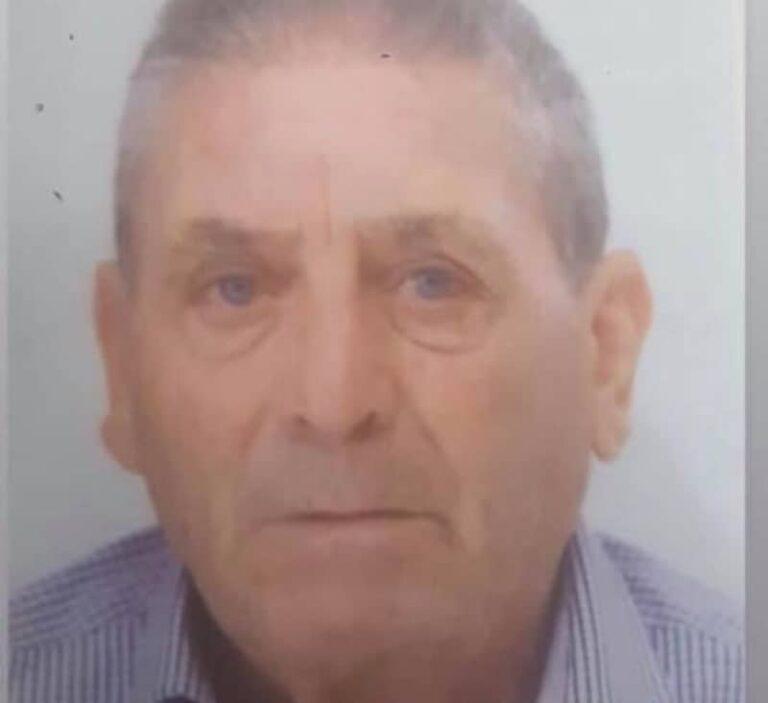 Anziano scomparso, il paese chiede aiuto. Attivato coordinamento interforze,