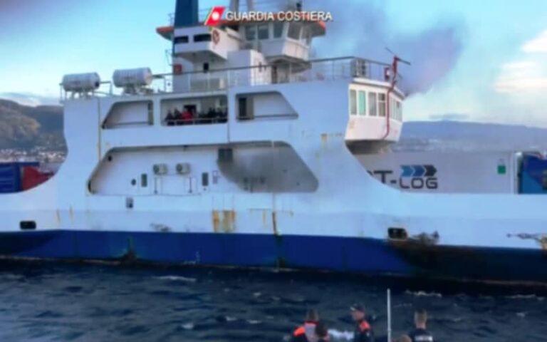 Principio di incendio, paura a bordo di un traghetto