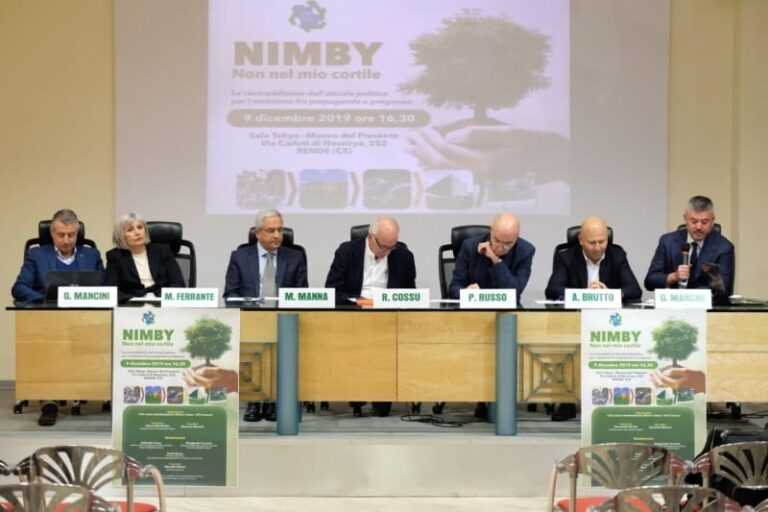 """A Rende l'analisi su """"Nimby"""", la sindrome che paralizza il ciclo dei rifiuti"""