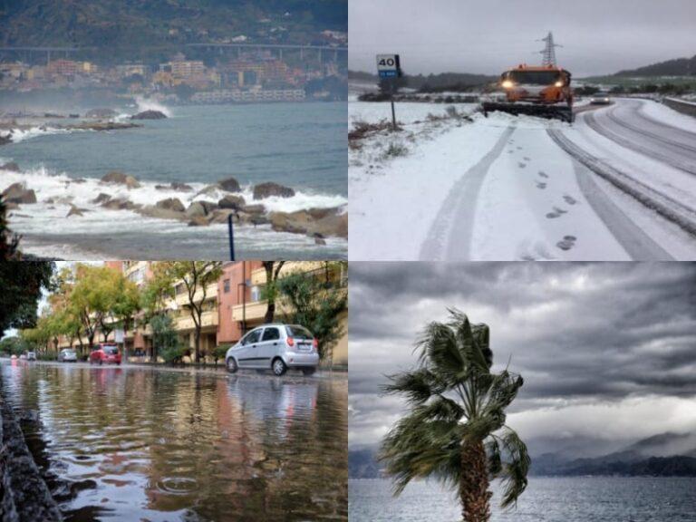 Il maltempo sferza la Calabria