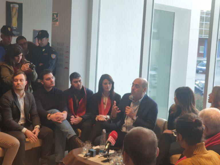 Zingaretti all'Unical e Callipo annuncia l'assessorato ai giovani