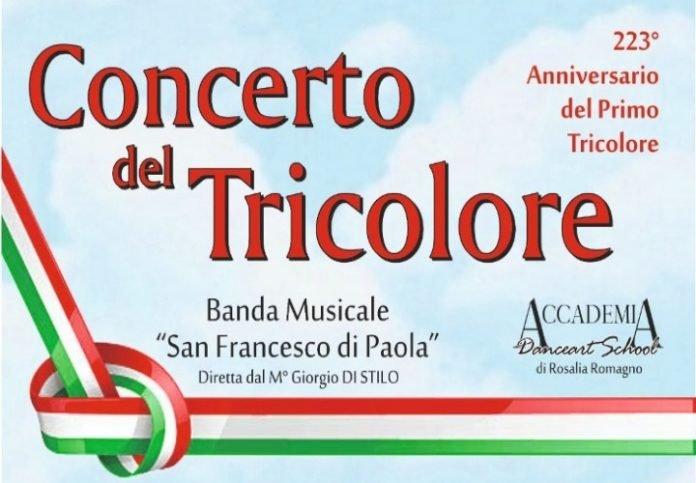 Paola, concerto del tricolore