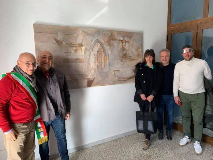 pittore Epeo-dona-opera-cittadinanza-Trebisacce