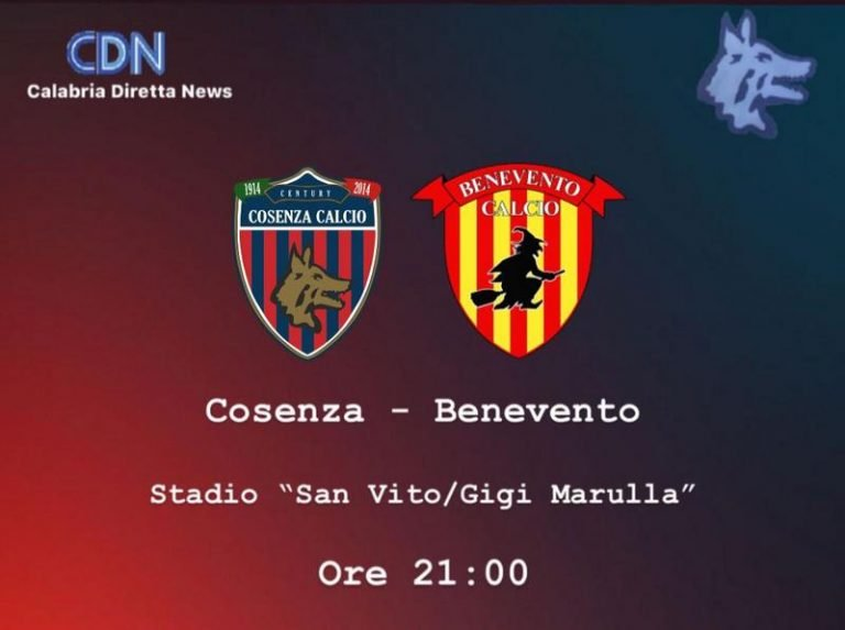 """Serie B: Cosenza – Benevento, """"testa coda"""" da brividi al San Vito-Gigi Marulla"""