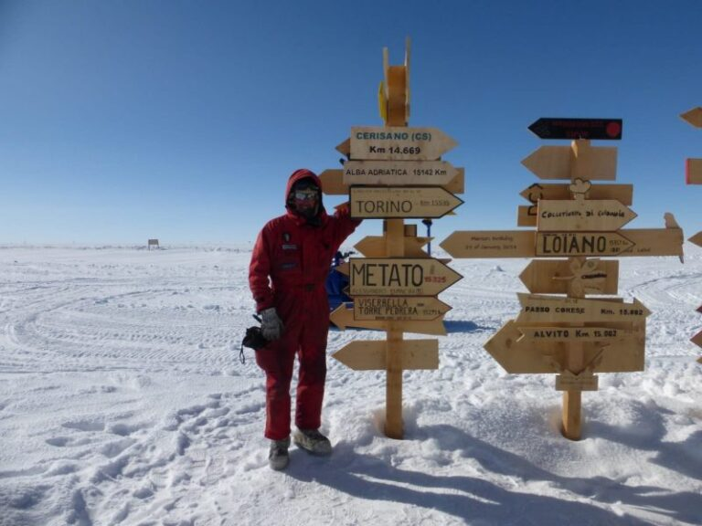 Cerisano sbarca al Polo Sud, in Antartide (photogallery)