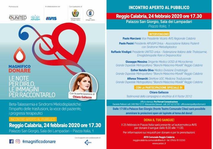"""A Reggio Calabria """"Magnifico Donare"""": incontro con esperti, ma anche musica e immagini"""