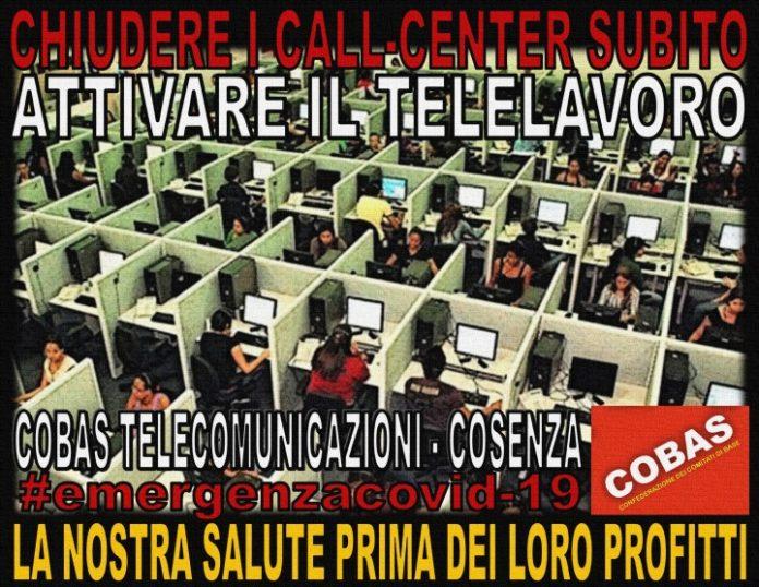 cobas-limitare-contagi-coronavirus-chiusura-call-center