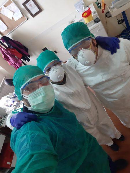 infermieri impegnati alla casa di riposo a Bocchigliero