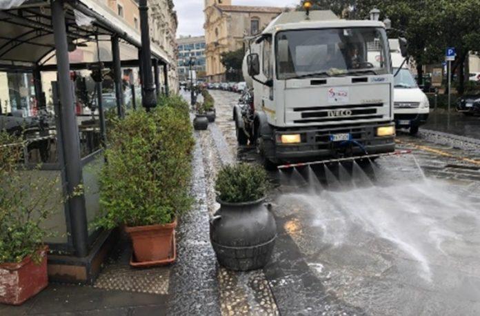 lavaggio strade catanzaro