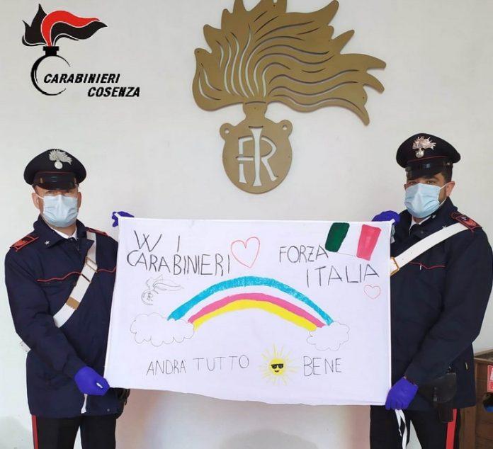 disegno-solidarietà-bambino-carabinieri-bisignano