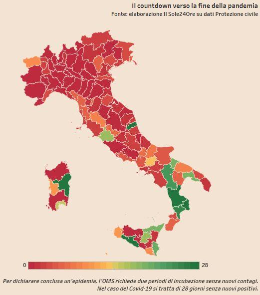 mappa covid free provincia cosenza