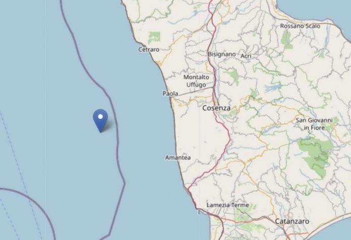 mappa terremoto calabria