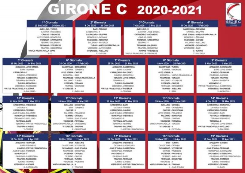 Calcio d'inizio per la serie C domenica 27 settembre. Il