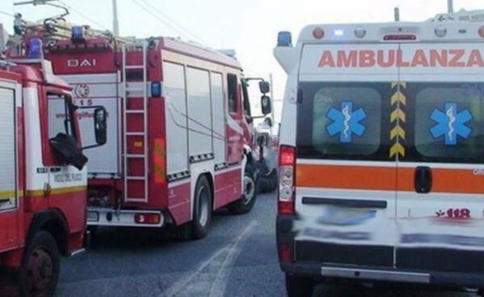 vigili del fuoco 118 ambulanza incidente condofuri rc