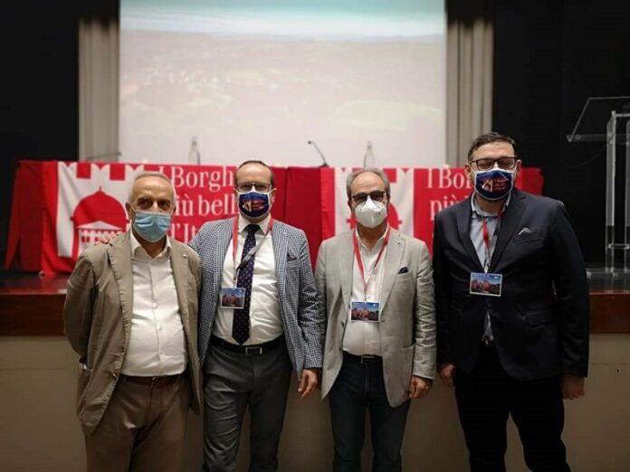 Roma assemblra Borghi D'Italia Da sx Bruno Cortese, Andrea Ponzo, Pino Varacalli e Antonio Favoino