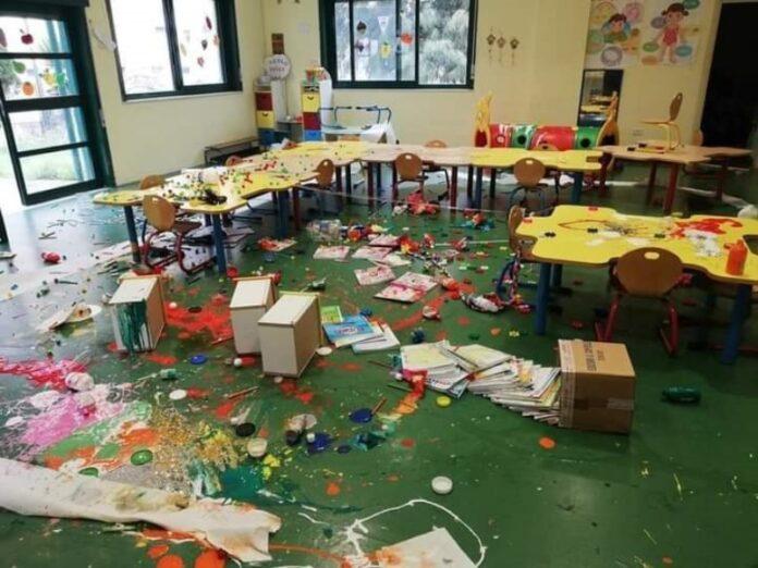 scuola dell'infanzia vandalizzata reggio calabria