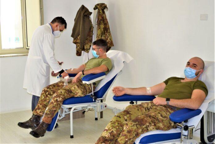 donazione di sangue Esercito