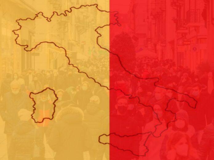 italia zona arancione rossa