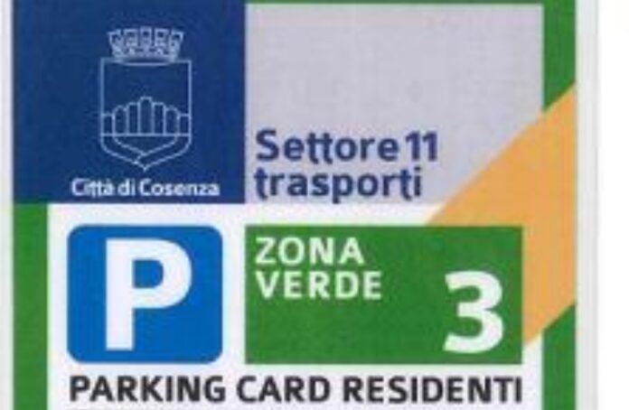 parking card cosenza