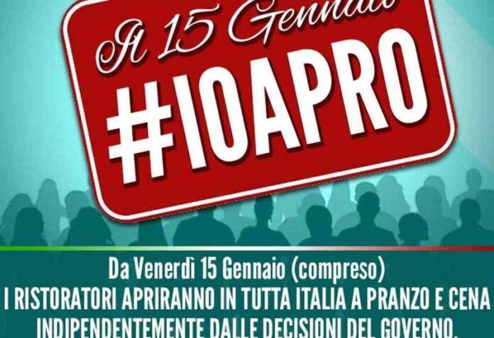 #ioapro protesta ristoratori