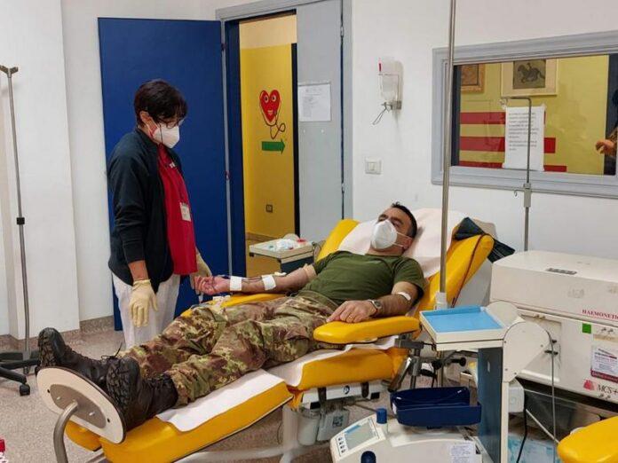 donazione sangue esercito cosenza