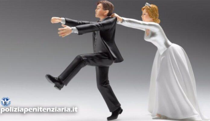 evade dai domiciliari per scappare dalla moglie