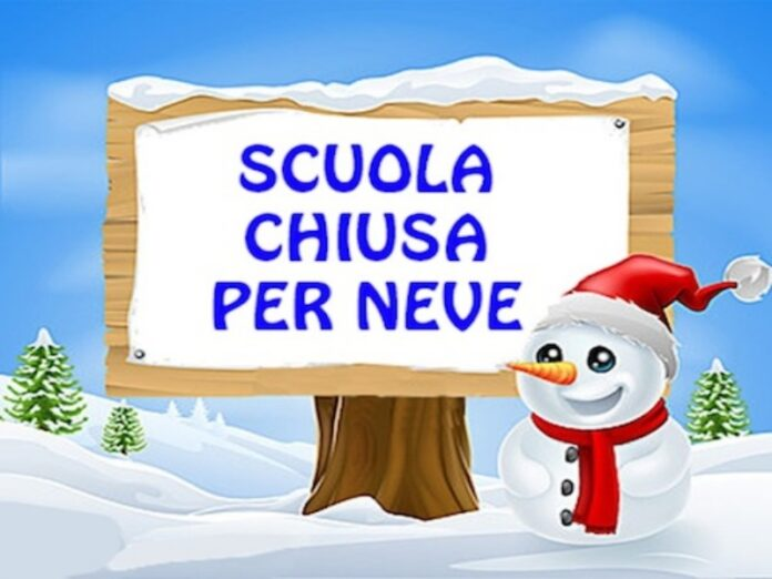 Cosenza, scuole chiuse per neve