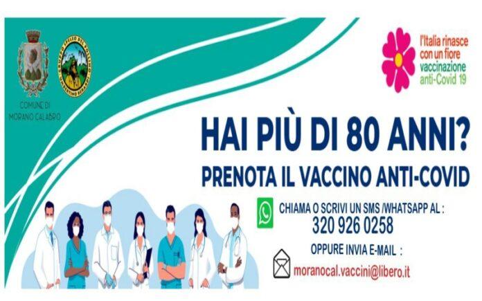 Vaccinazione ottantenni morano calabro