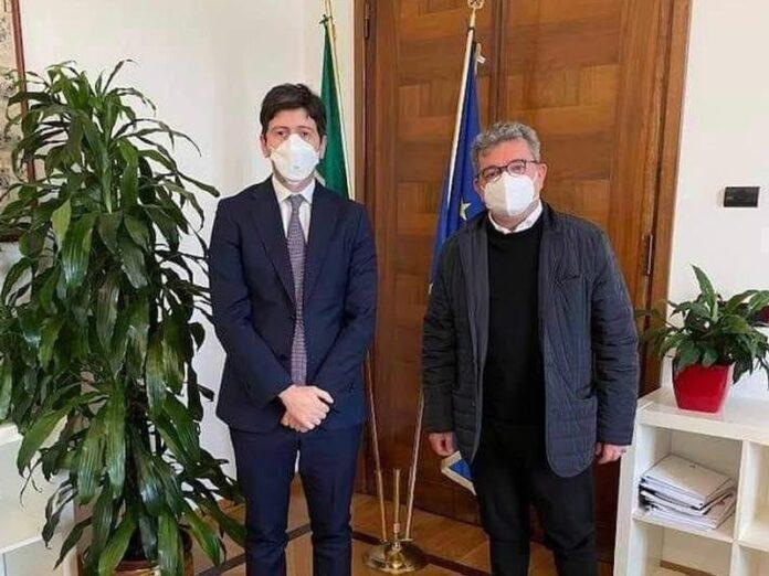 il ministro Speranza e il presidente Spirlì