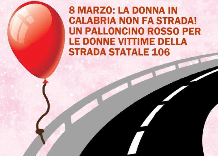 palloncino rosso a donne morte sulla ss106