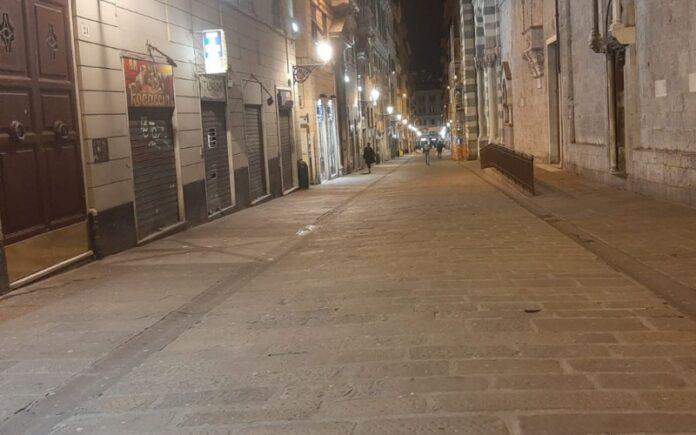 zona rossa strade deserte