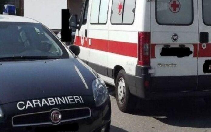 carabinieri ambulanza ragazzo morto