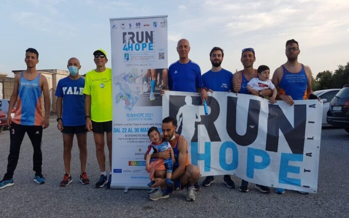 Arrivo a Lamezia Terme Run4Hope staffetta per la ricerca Airc