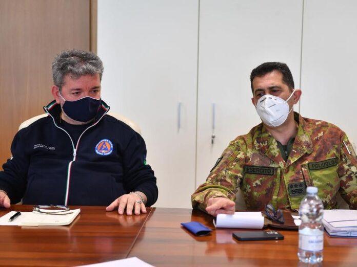 Il presidente Spirlì e il generale Figliuolo