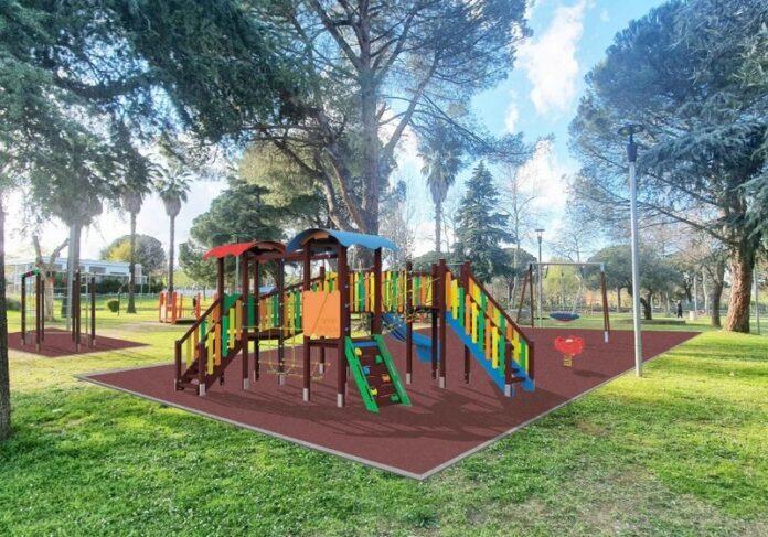 giochi e arredi ecosostenibili parco Nicholas Green
