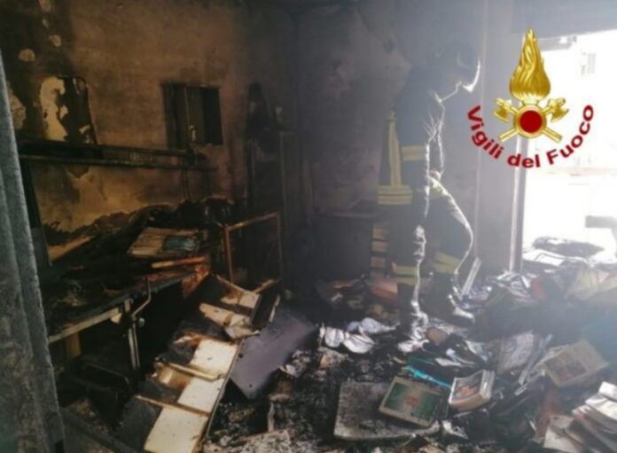 incendio studio medico Catanzaro